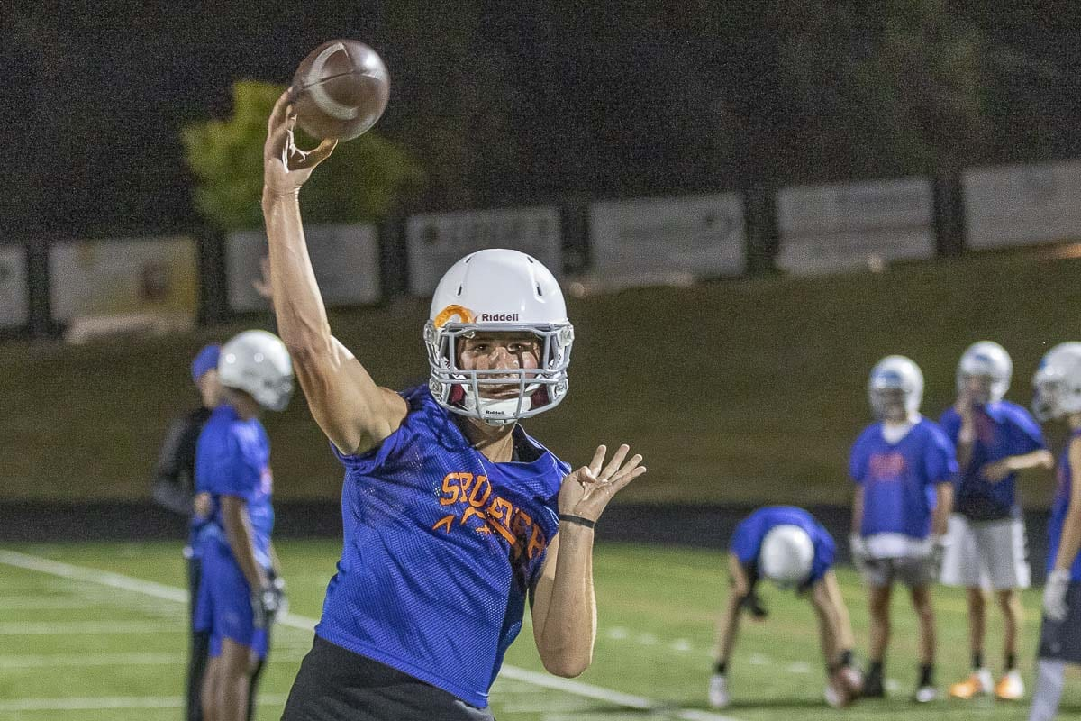 "Luke Price could be a ""game-changer"" in the new spread offense at Ridgefield. Photo by Mike Schultz"