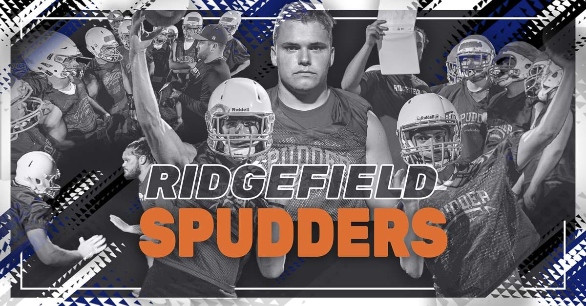 Ridgefield Spudders, Ridgefield High School, Ridgefield, Class 2A Greater St. Helens League, high school football, Scott Rice, Bryce Harrison, Luke Price, Hunter Abrams, Trey Knight
