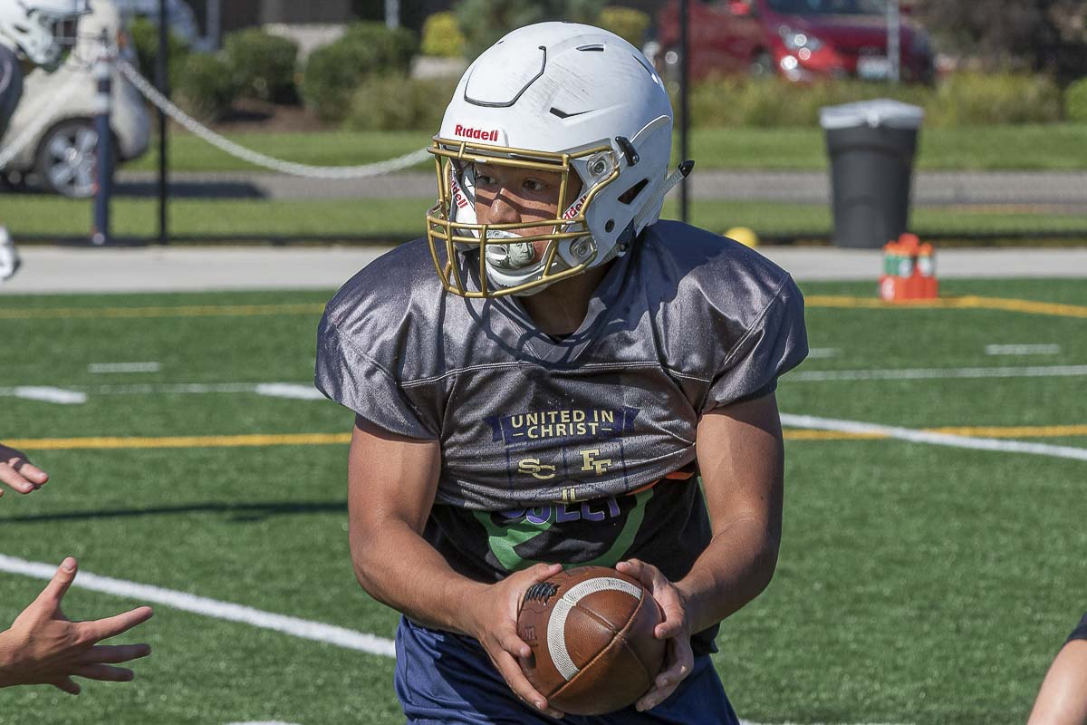 Elijah Volk has been known to take a few snaps at quarterback in practice, but he should be Seton Catholic's top running back. Photo by Mike Schultz