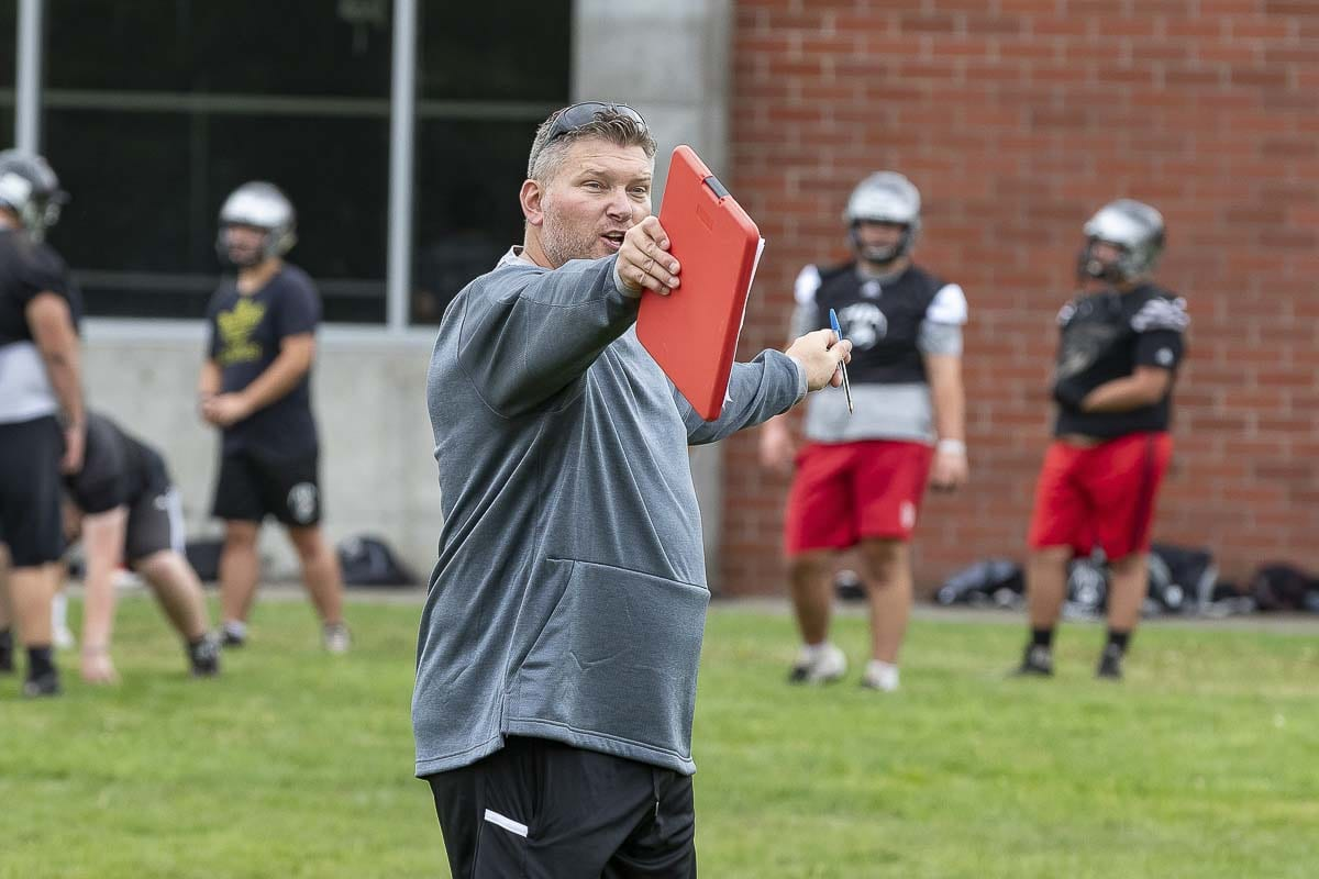Union coach Rory Rosenbach said he would have messed up his JV's team comeback had he stayed. Photo by Mike Schultz