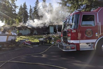Firefighters respond to fully involved house fire in Vancouver Monday morning