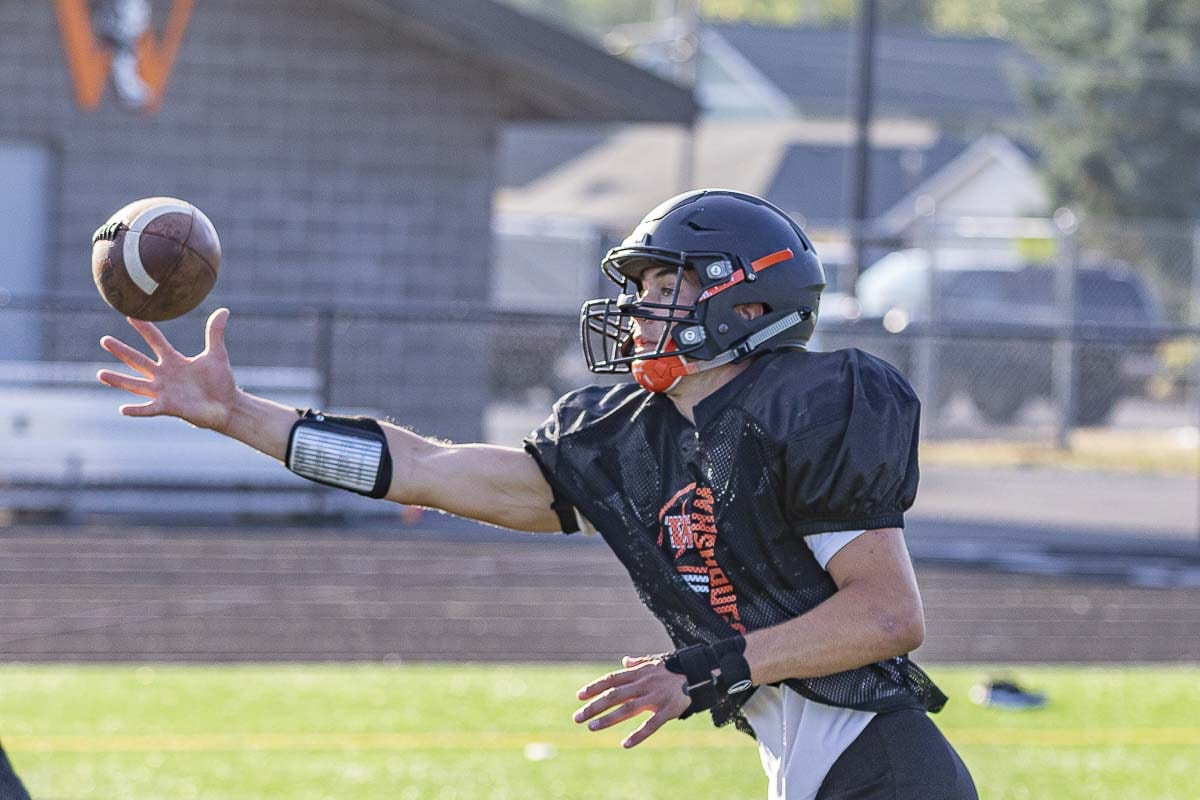 Brevan Bea can do a little bit of everything for the Washougal Panthers. He is a beast on defense, and on offense can line up just about anywhere. Photo by Mike Schultz