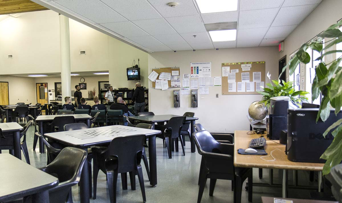 Prisoners gather inside a common area at the Clark County Jail. Photo courtesy Clark County Sheriff's Office