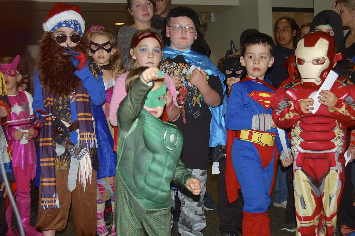 "These ""Superheroes"" participated in the October First Friday in downtown Camas in 2015. Photo courtesy of Downtown Camas Association"