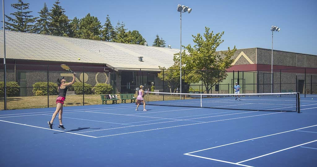 Vancouver Tennis Center is owned and operated by the United States Tennis Association Pacific Northwest district. Photo courtesy of Vancouver Tennis Center