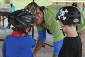 Free bike helmet giveaway and helmet check set for Saturday