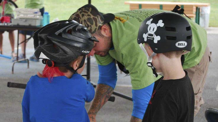 PeaceHealth is teaming with Bike Clark County and Emergency Medicine Associates to make sure every child in our community is properly fitted with a bike helmet. On Saturday, experts will be on hand to provide up to 100 free bike helmets for children who need them, and to perform helmet inspections. Photo courtesy of Bike Clark County