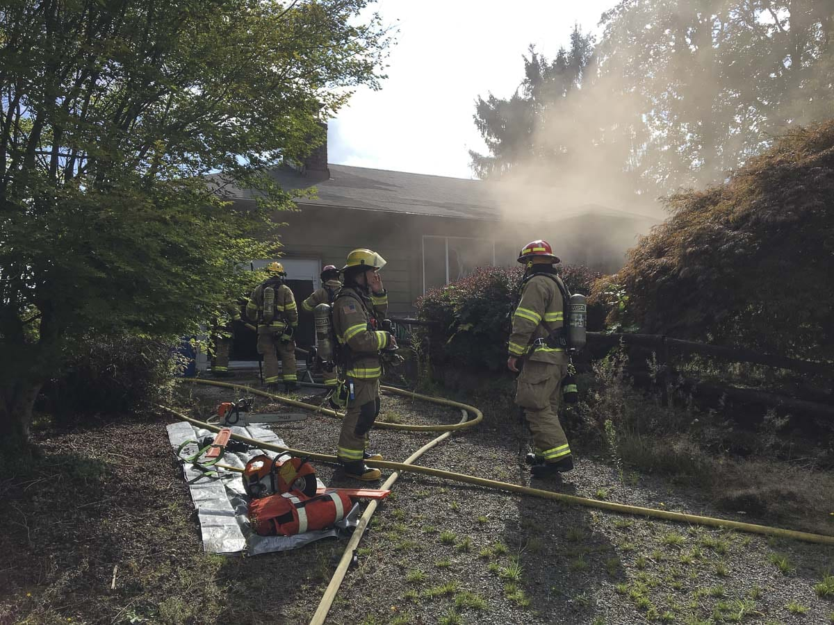 The fires appear suspicious and are being investigated by Fire District 3 and the Battle Ground Police Department. Photo courtesy of Clark County Fire District 3
