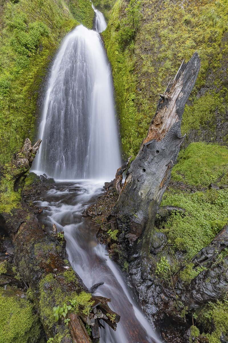 Wahkeena Falls is the third waterfall along U.S. 30, and is easily accessible up close. Photo by Mike Schultz