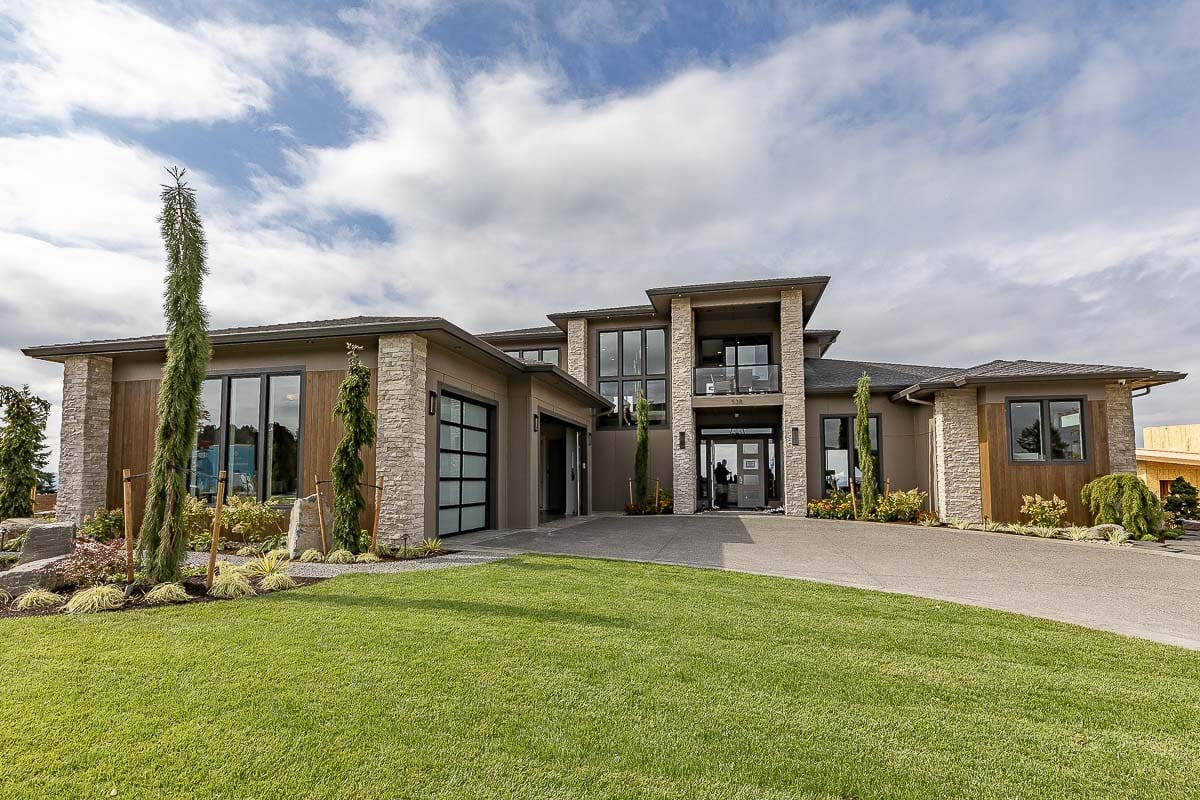 The exterior of The River's Point home, on of two by Cascade West Development at the 2019 Clark County Parade of Homes, is shown here. Photo by Mike Schultz
