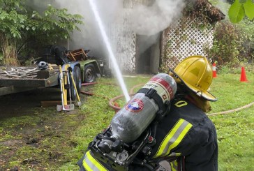 Fire destroys garage in Washougal