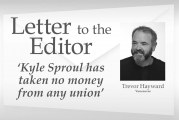Letter: 'Kyle Sproul has taken no money from any union'