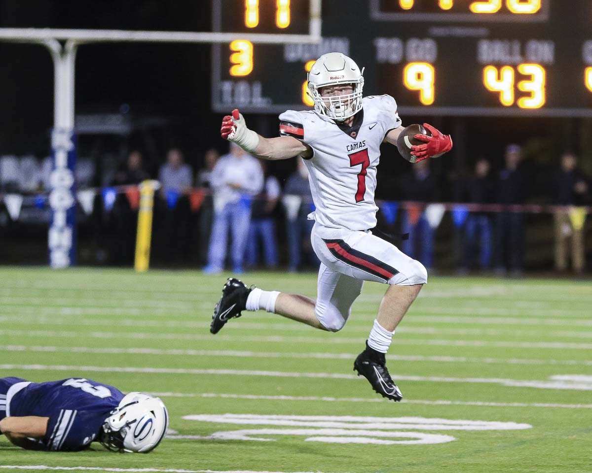 Tyler Forner of the Camas Papermakers hopes to help Camas take the leap to an outright league title this week. Photo by Mike Schultz