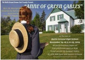 "Battle Ground High School Drama presents ""Anne of Green Gables"" beginning Nov. 14."