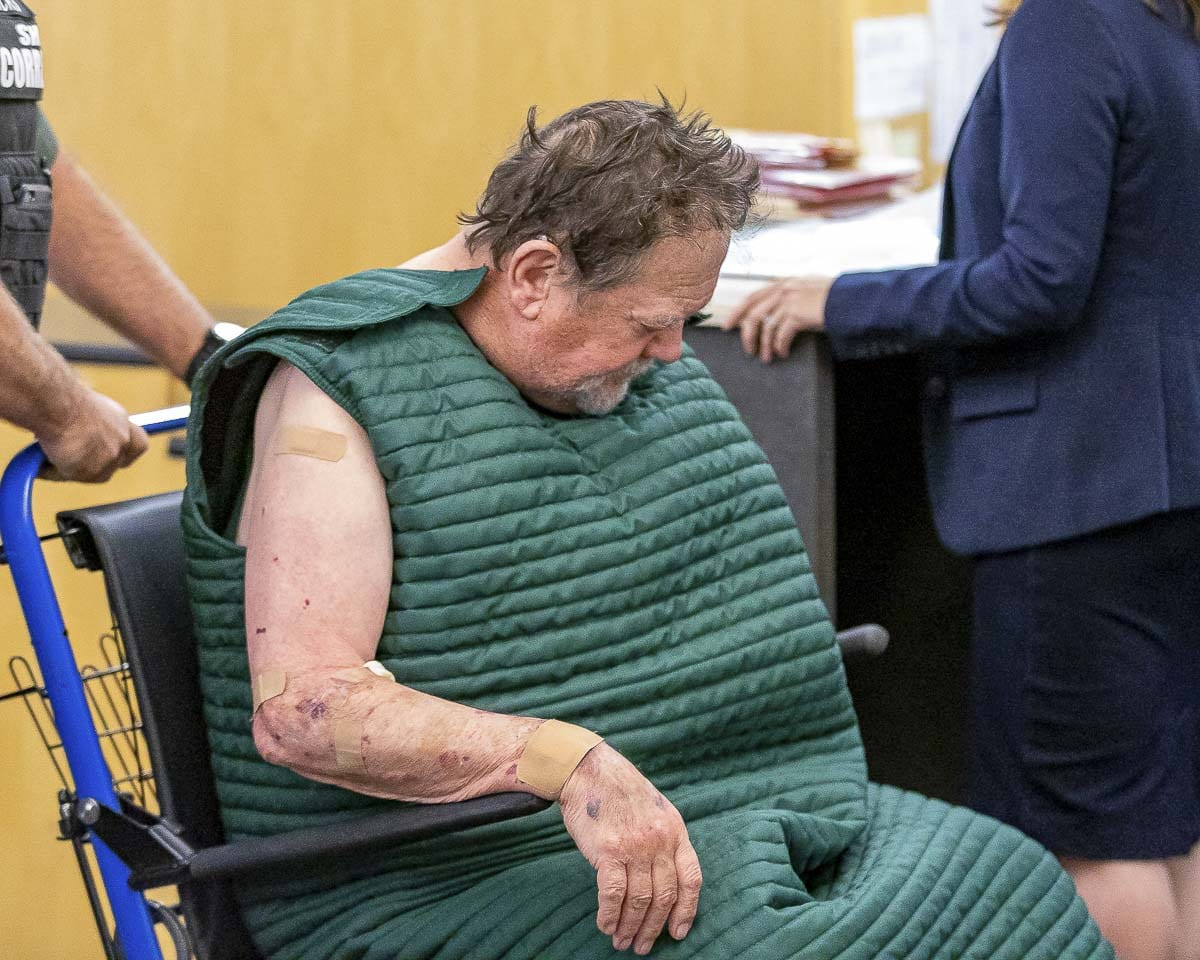 Robert E. Breck is shown here at his first appearance in Clark County Court on Friday. Photo by Mike Schultz