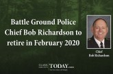 Battle Ground Police Chief Bob Richardson to retire in February 2020