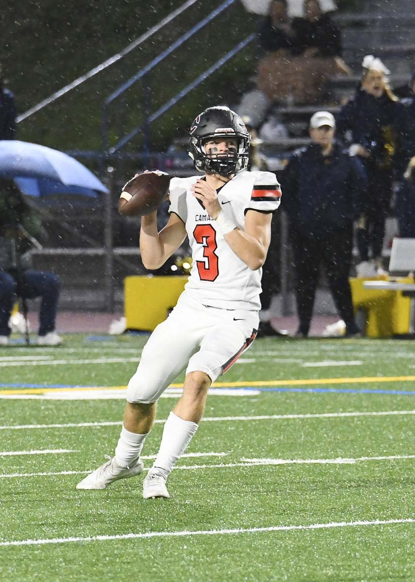Camas quarterback Jake Blair has helped the Papermakers to a 7-0 record as they head into big games with Skyview and Union to finish the regular season. Photo by Kris Cavin