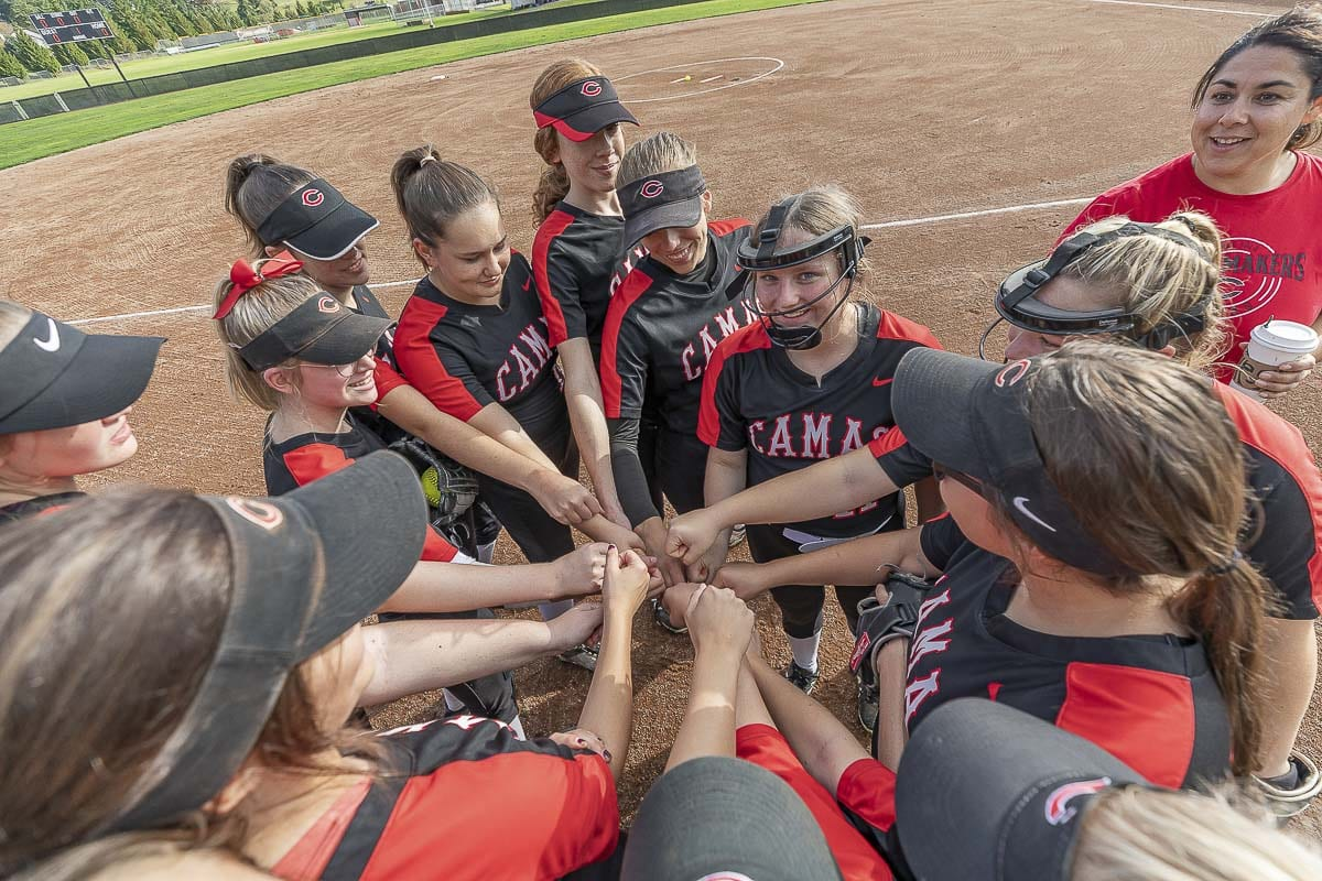 Camas represented the region in the slowpitch state tournament a year ago. This fall, the sport is being sanctioned by the WIAA. Photo by Mike Schultz