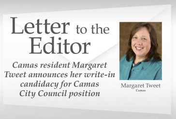 Letter: Camas City Council write-in candidate Margaret Tweet shares views