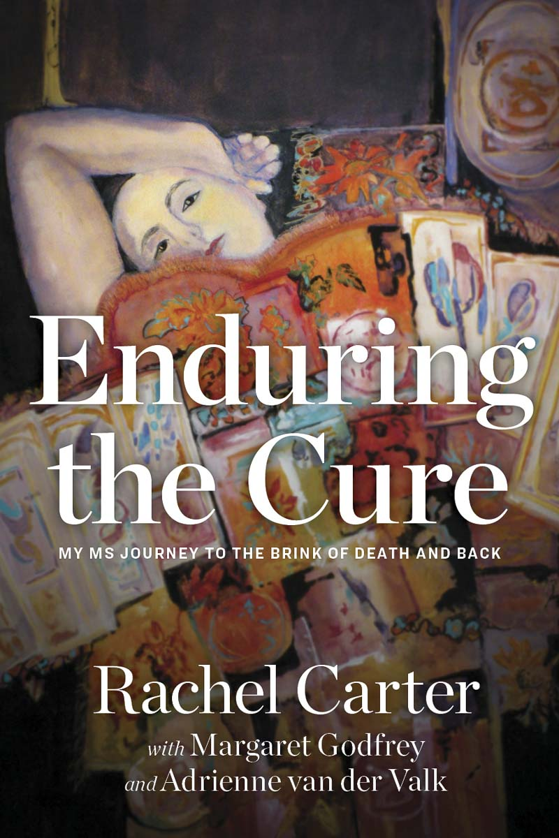 """Enduring the Cure: My MS Journey to the Brink of Death and Back"" will be released Oct. 1 by Illumify Media Global. The book's cover art is by Carter's mother, watercolor painter Margaret Godfrey. Image courtesy of Rachel Carter"