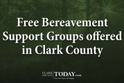 Free Bereavement Support Groups offered in Clark County