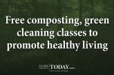 Free composting, green cleaning classes to promote healthy living