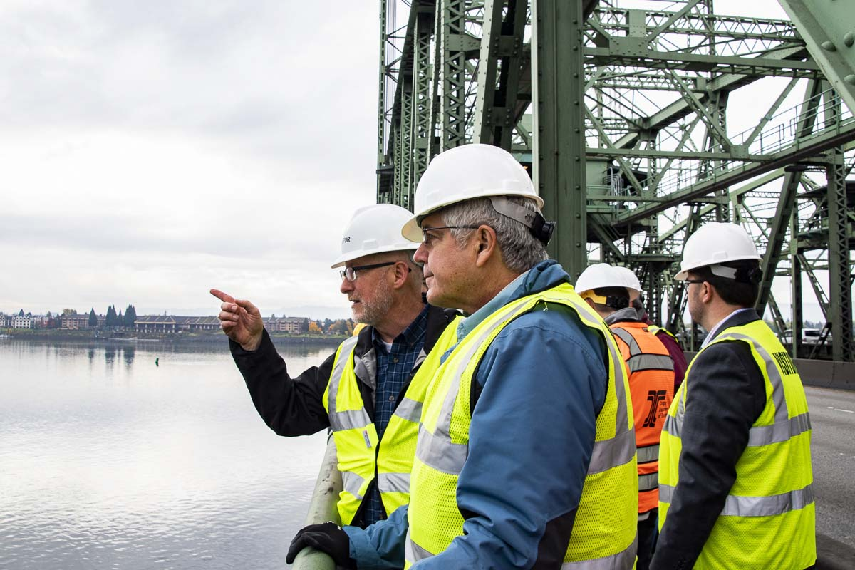 Lawmakers on the Joint Interstate 5 Bridge Committee toured the aging structure on Friday ahead of their first official meeting. Photo courtesy Oregon Department of Transportation