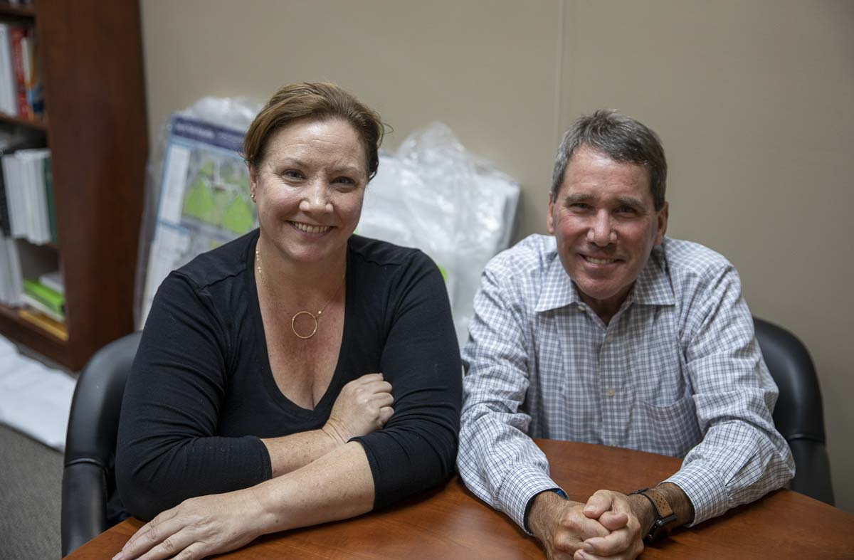 Camas Mayor Shannon Turk (left) is shown here with City Administrator Pete Capell. Photo by Jacob Granneman