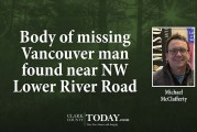Body of missing Vancouver man found near NW Lower River Road