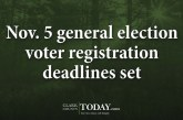 Nov. 5 general election voter registration deadlines set