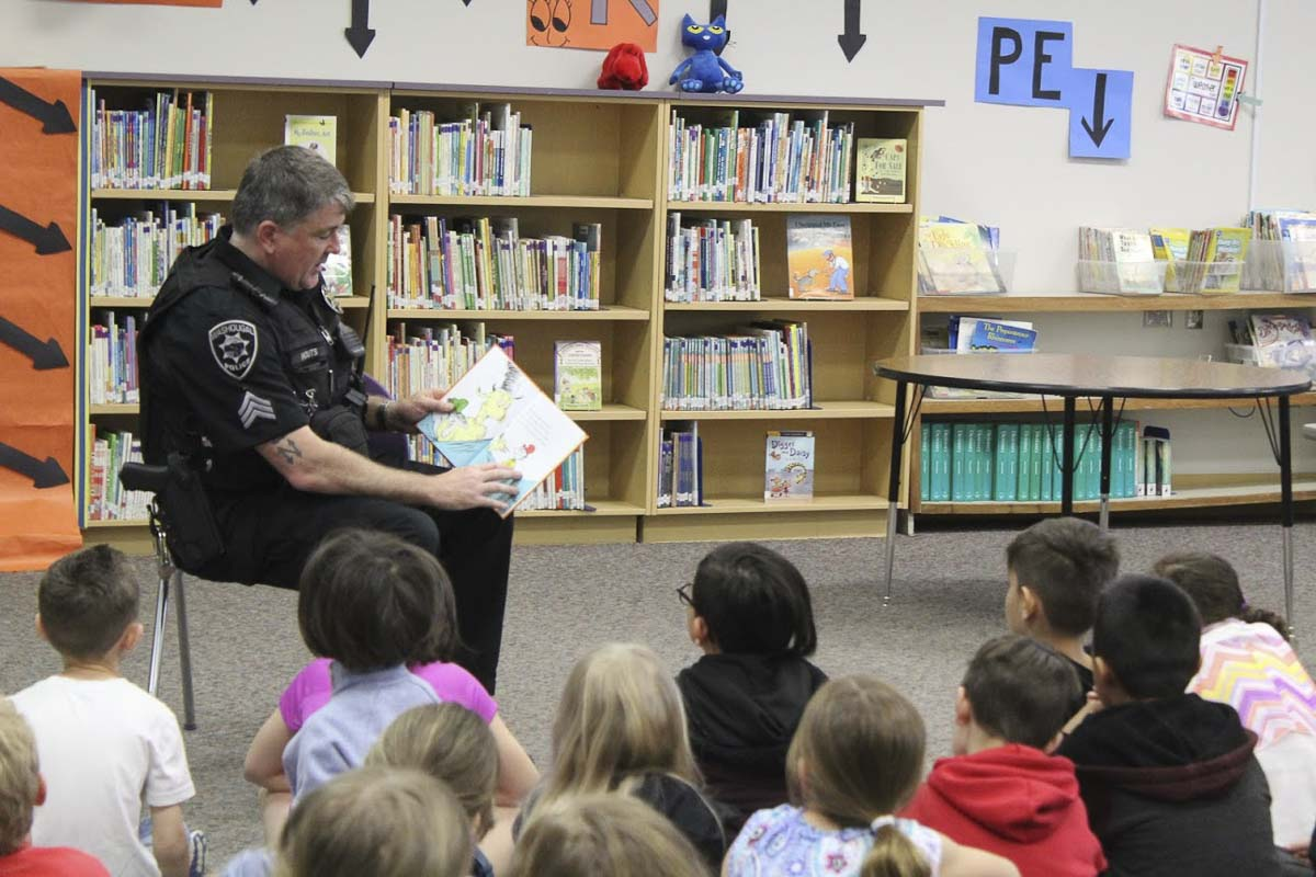 The Camas-Washougal Community Chest supported a portion of the costs to setup the Police Activities League's literacy events in Camas and Washougal schools. Photo courtesy of Camas-Washougal Community Chest
