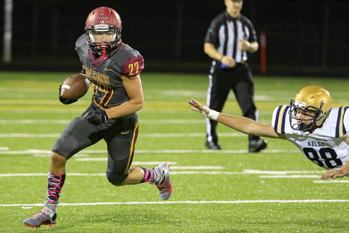 Dustin Shelby is one of the many playmakers for the undefeated Prairie Falcons. Photo by Mike Schultz
