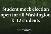 Student mock election open for all Washington K-12 students