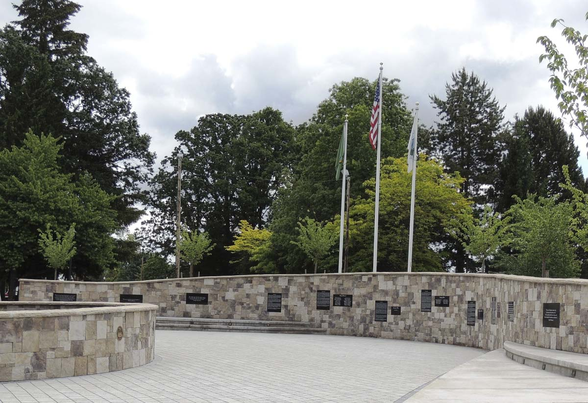 The Battle Ground Veterans Memorial was fully funded and constructed by donations, evidence of the community's commitment to honoring those who serve and those who made the ultimate sacrifice in service to our country. Photo courtesy of city of Battle Ground