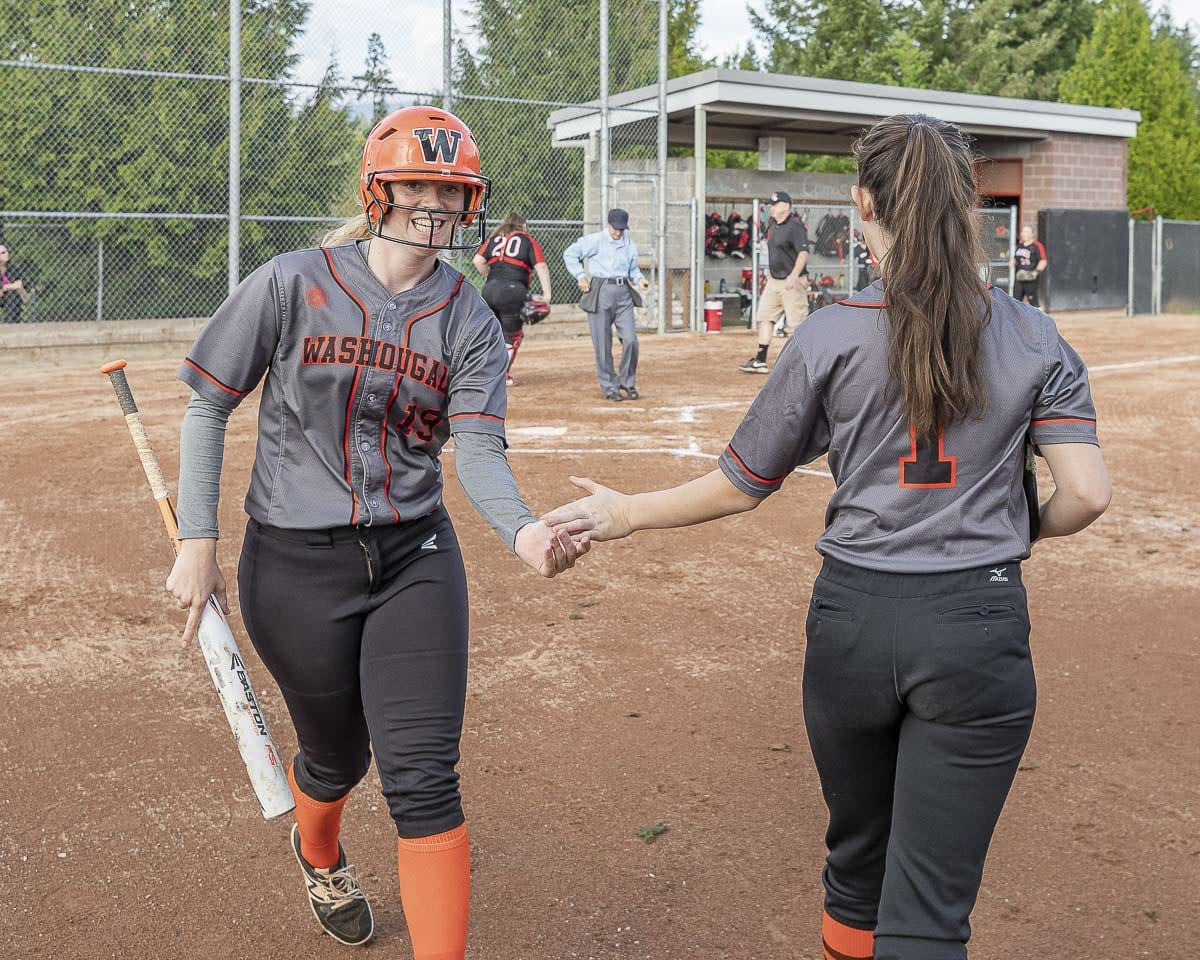Audrey Thomspon (19) was instrumental in getting a slowpitch team at Washougal. Photo by Mike Schultz