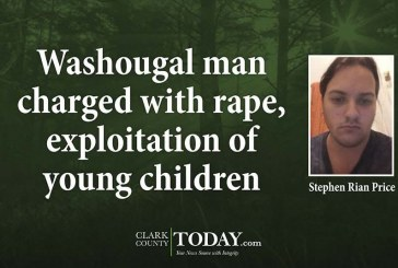 Washougal man charged with rape, exploitation of young children