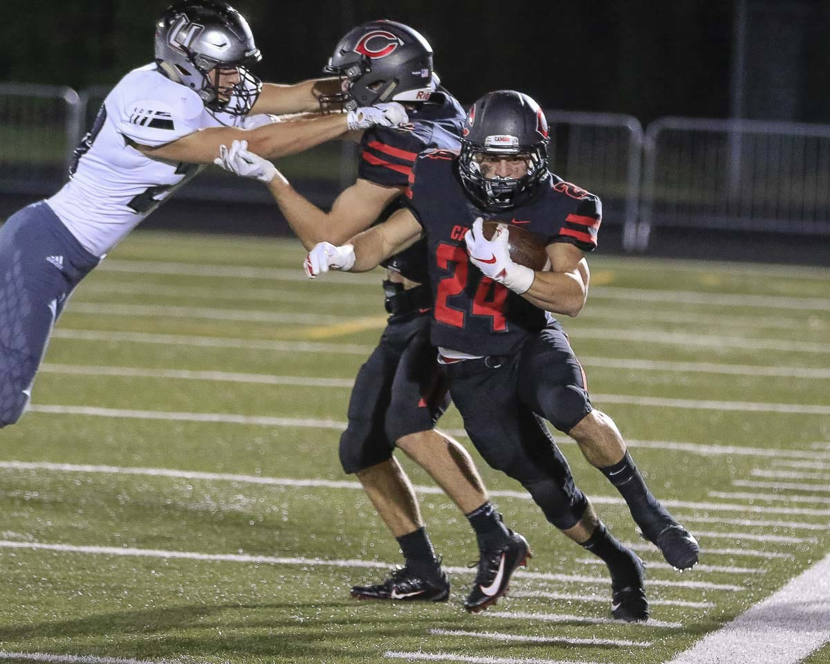 Randy Yaacoub, shown here earlier this season, has been making huge contributions to the Camas rushing attack. Photo by Mike Schultz