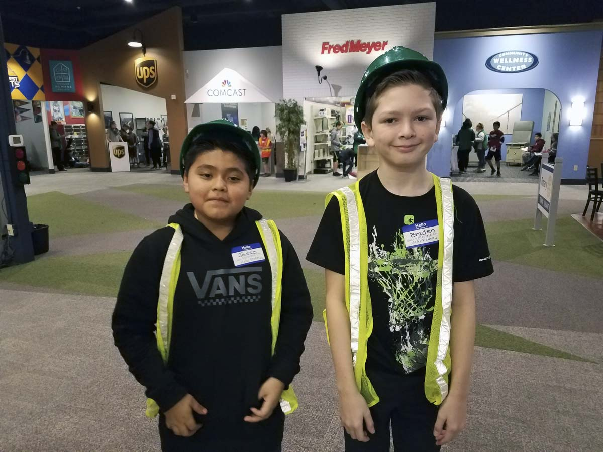 Woodland's local Walmart awarded a grant to help pay for Robin Uhlenkott's sixth grade classes to attend JA BizTown where they put financial literacy & business skills to the test (Pictured: 2018 Field Trip). Photo courtesy of Woodland Public Schools
