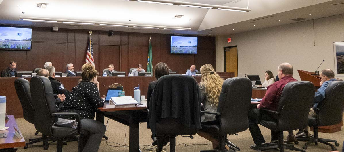 Battle Ground City Council weighs taking a 1.69 percent property tax levy increase for 2020. Photo by Chris Brown