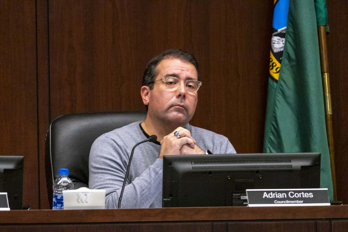 Battle Ground City Councilor Adrian Cortes voted against a property tax levy increase. Photo by Chris Brown