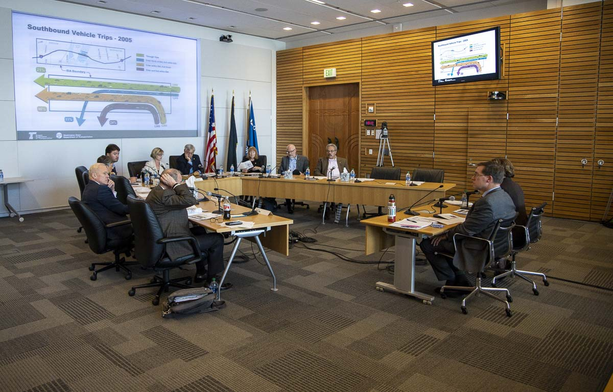 The Joint Interim Committee on the Interstate 5 Bridge holds its second official meeting at the Port of Portland headquarters. Photo by Chris Brown