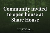 Community invited to open house at Share House