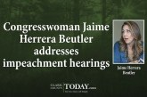 Congresswoman Jaime Herrera Beutler addresses impeachment hearings in telephone town hall