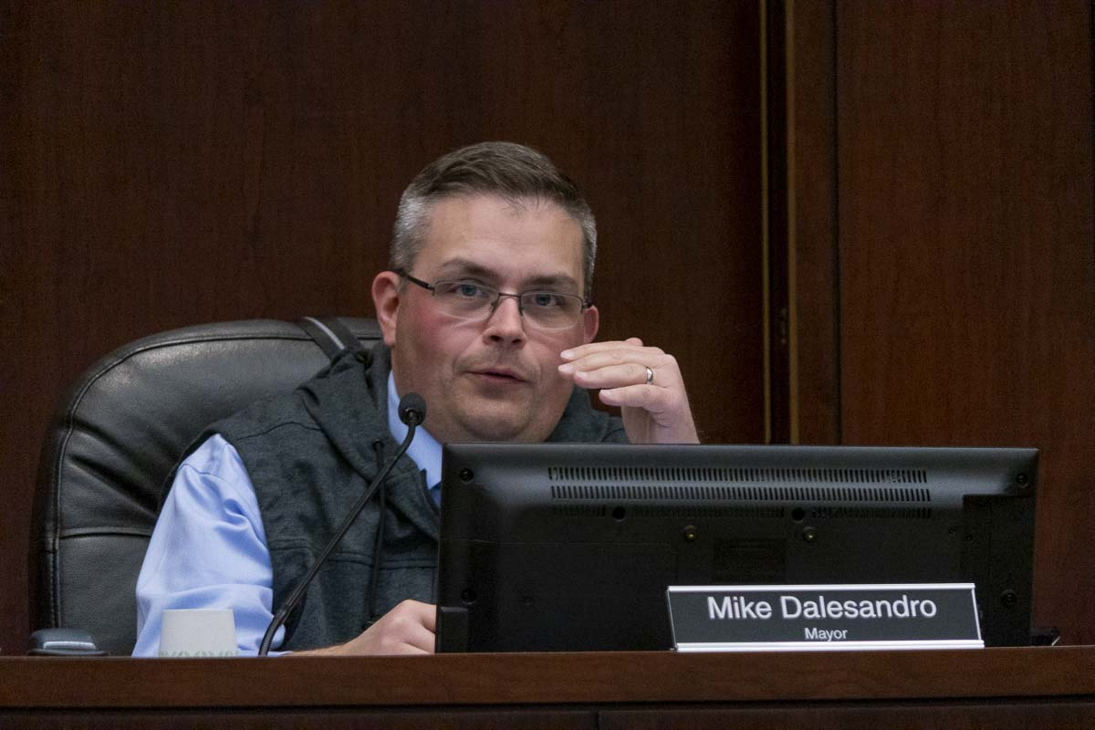 Battle Ground Mayor Mike Dalesandro will not seek a second two-year term as the city's mayor in 2020. Photo by Chris Brown