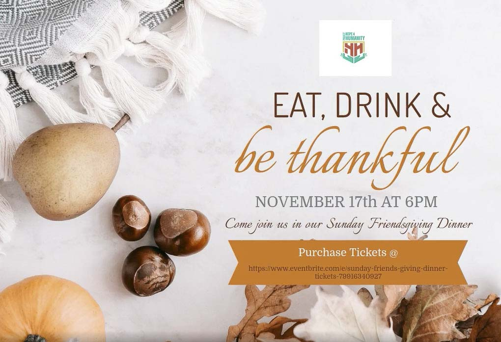 On Sunday, Nov. 17 at the Vancouver Community Library join Project Hope 4 Humanity for a Thanksgiving meal.