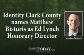 Identity Clark County names Matthew Bisturis as Ed Lynch Honorary Director