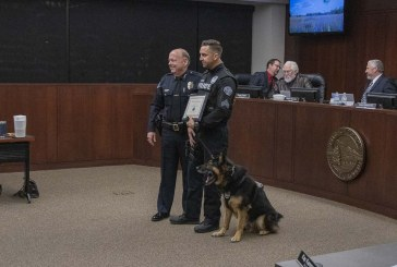 Retiring Battle Ground police K-9 officer honored