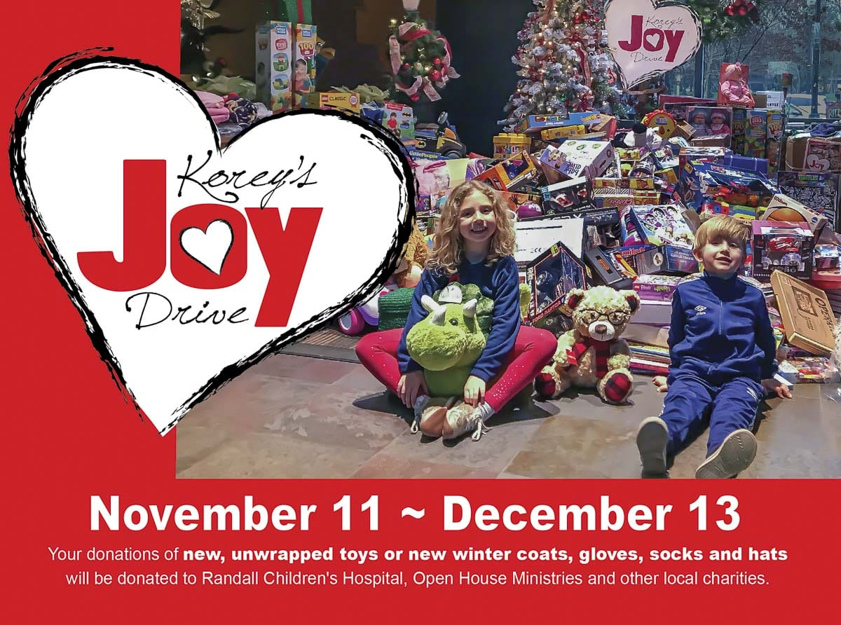 Starting Nov. 11, the city of Vancouver invites the community to support the third annual Korey's Joy Drive, a toy drive in memory of Korey Cochran, a city employee who passed away in 2017 at age 38 from cancer.