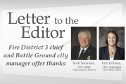 Letter: Fire District 3 chief and Battle Ground city manager offer thanks