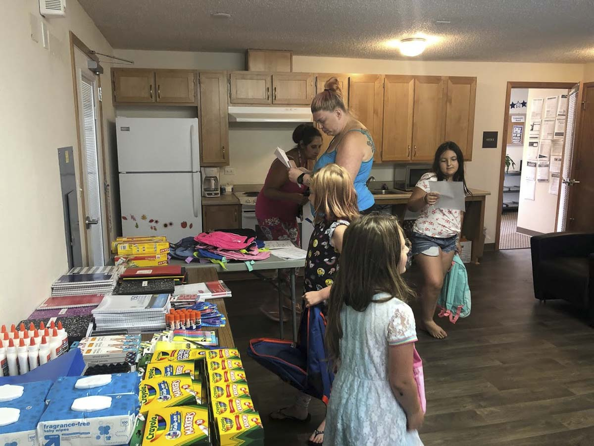 Grants from the Camas-Washougal Community Chest helped the REACH program provide back-to-school supplies for children in the Gateway Gardens neighborhood in Washougal. Photo courtesy of Camas-Washougal Community Chest